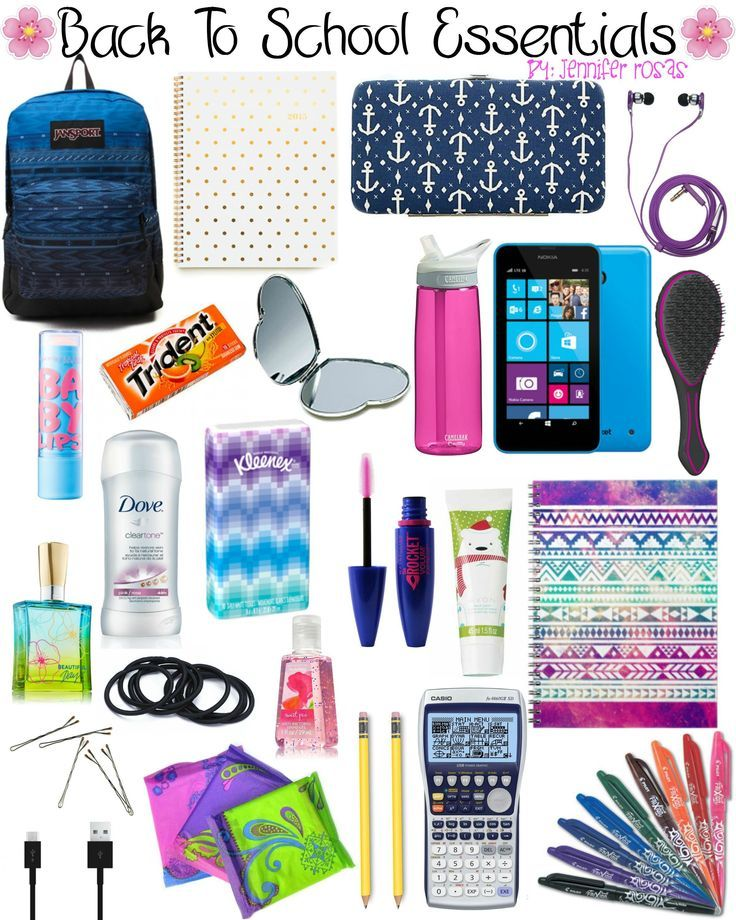 Back To School Essentials by Jennifer Rosas #backpackessentials #backtoschool