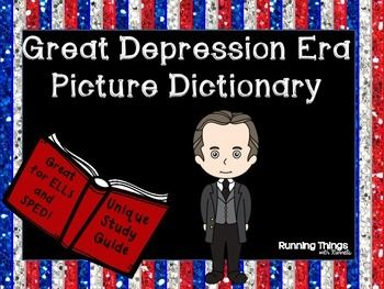 Great depression era picture dictionary words for Forward dictionary