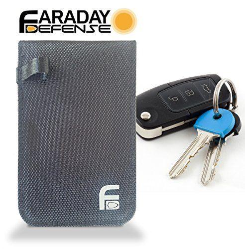 FOB Defender Heavy Duty RFID Faraday FOB Bag Black Canvas for Key