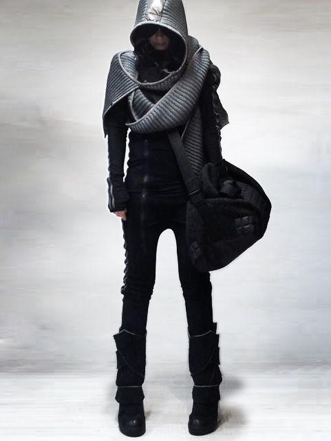 future fashion # futuristic clothing # black clothes # black clothing