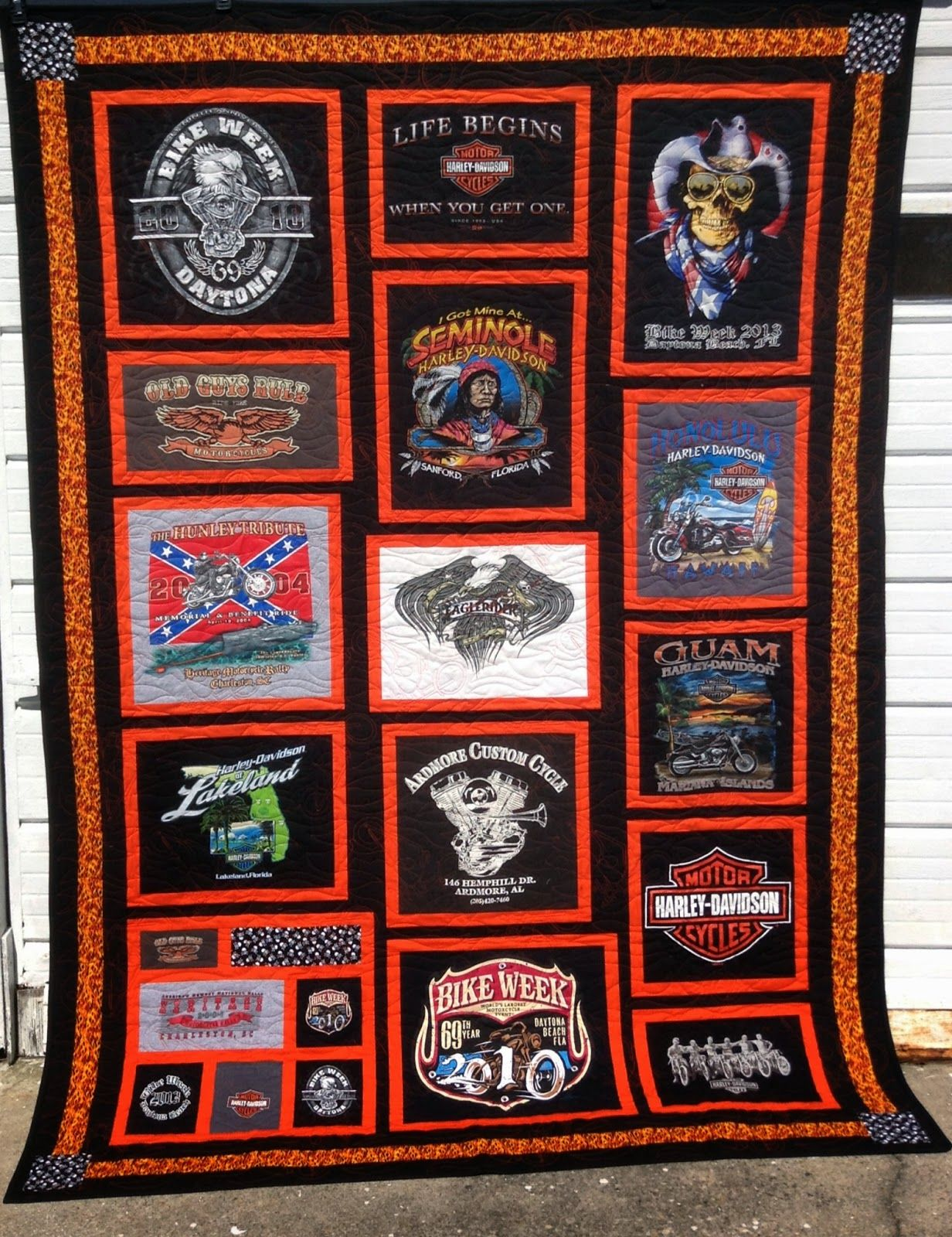 Quirky Quilts Born To Be Wild Shirt Quilt Harley
