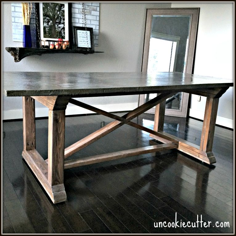 Concrete dining table diy for less concrete top dining