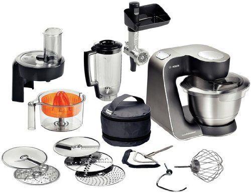 Bosch MUM57860 - Robot de cocina (Negro, Acero inoxidable, 7,21 kg - bosch küchenmaschine profi 67
