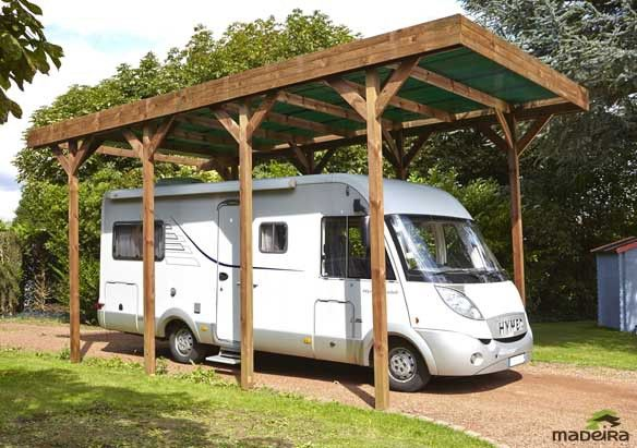 Lekingstore Abri Camping Car Carport Bois Ports De Voiture
