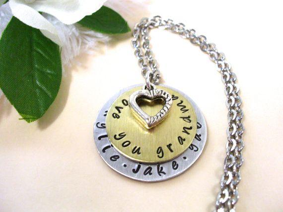 grandma jewelry grandma necklace personalized jewelry hand