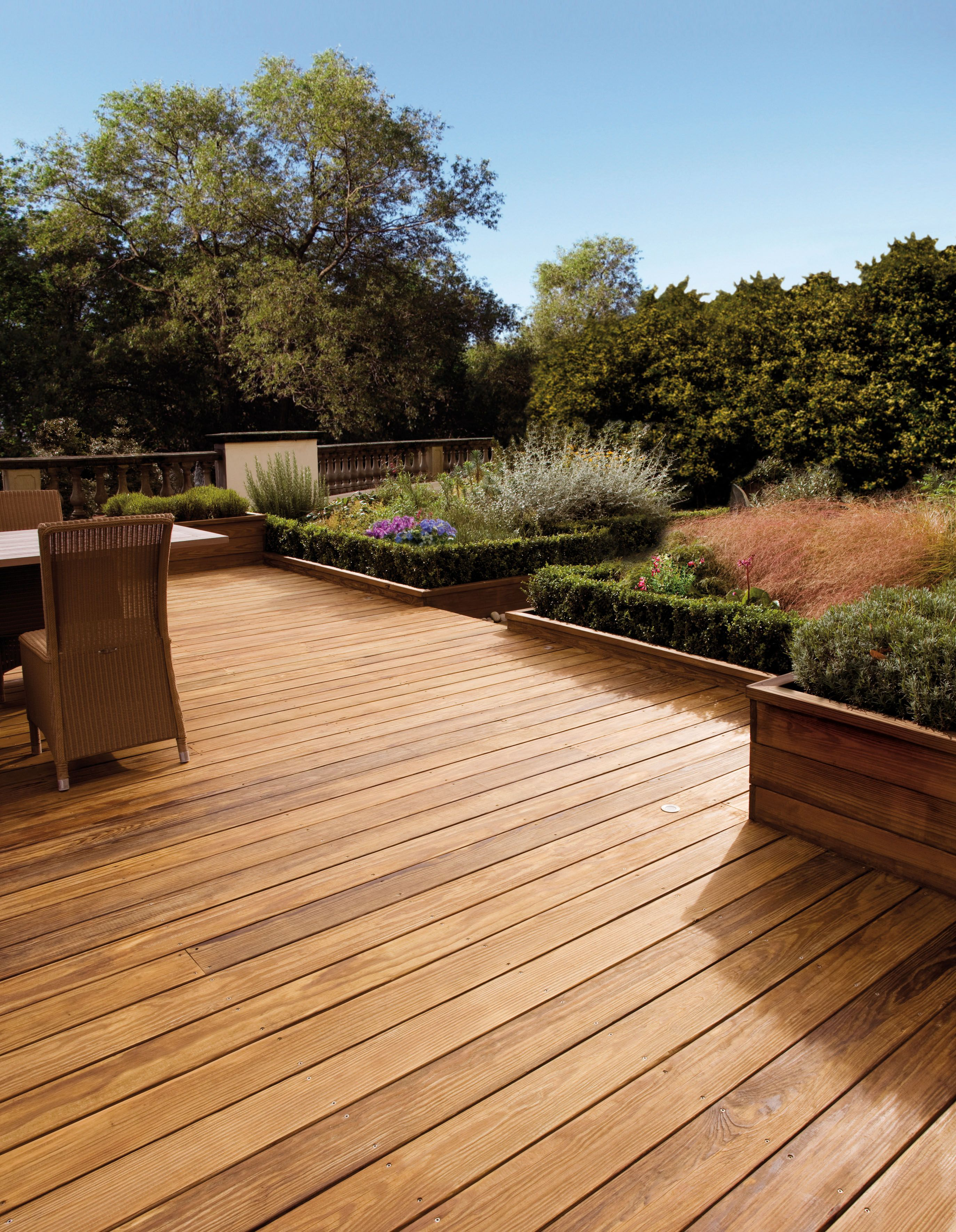Decking Stain and Protector available in three shades.