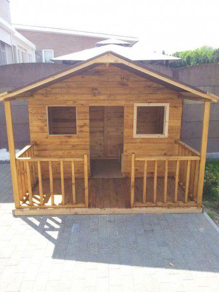 Como hacer una casita de madera con palets backyard - Como hacer casitas de madera para ninos ...