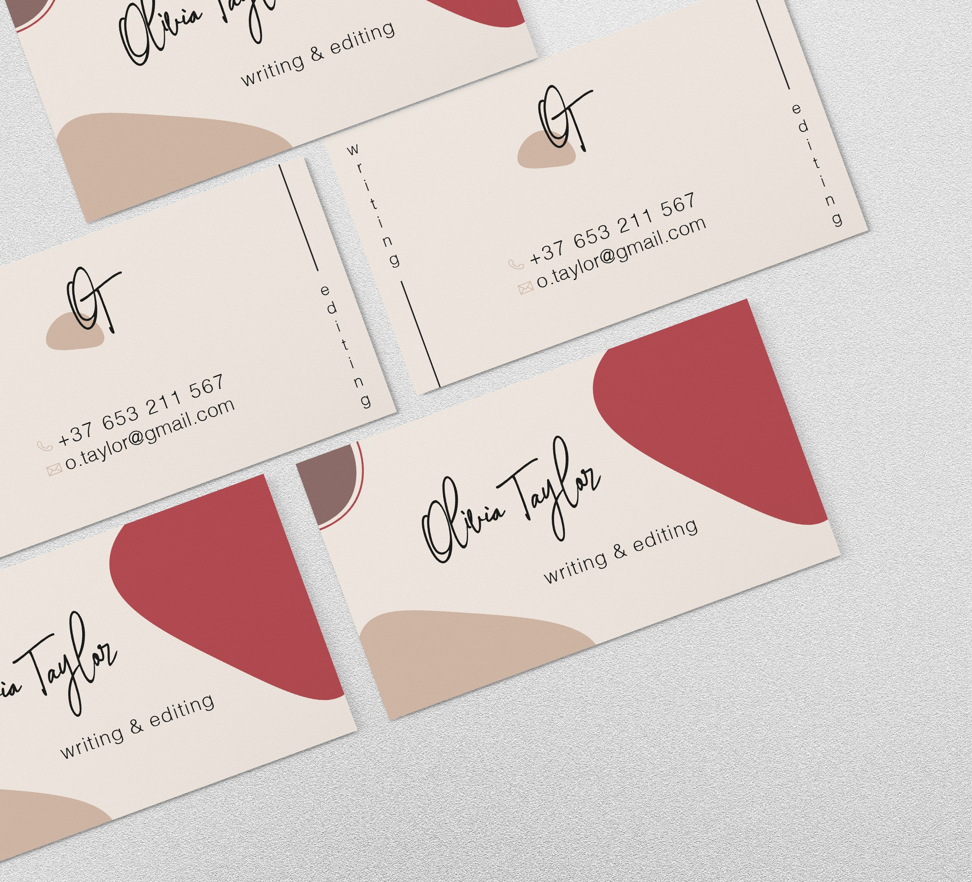 Abstract Shapes Business Card Shaped business cards