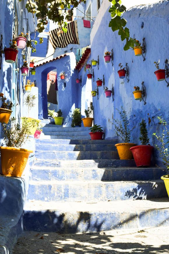Must See Chefchaouen Morocco Morocco Walking Street And - Old town morocco entirely blue