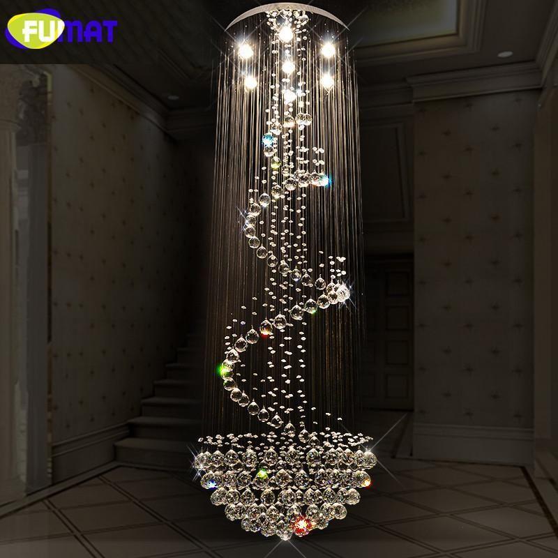 K9 Crystal Chandeliers Modern Spiral