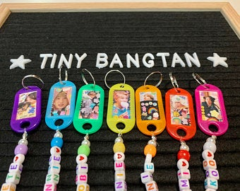 BTS Keychains in 2020 Kpop diy, Pony bead projects