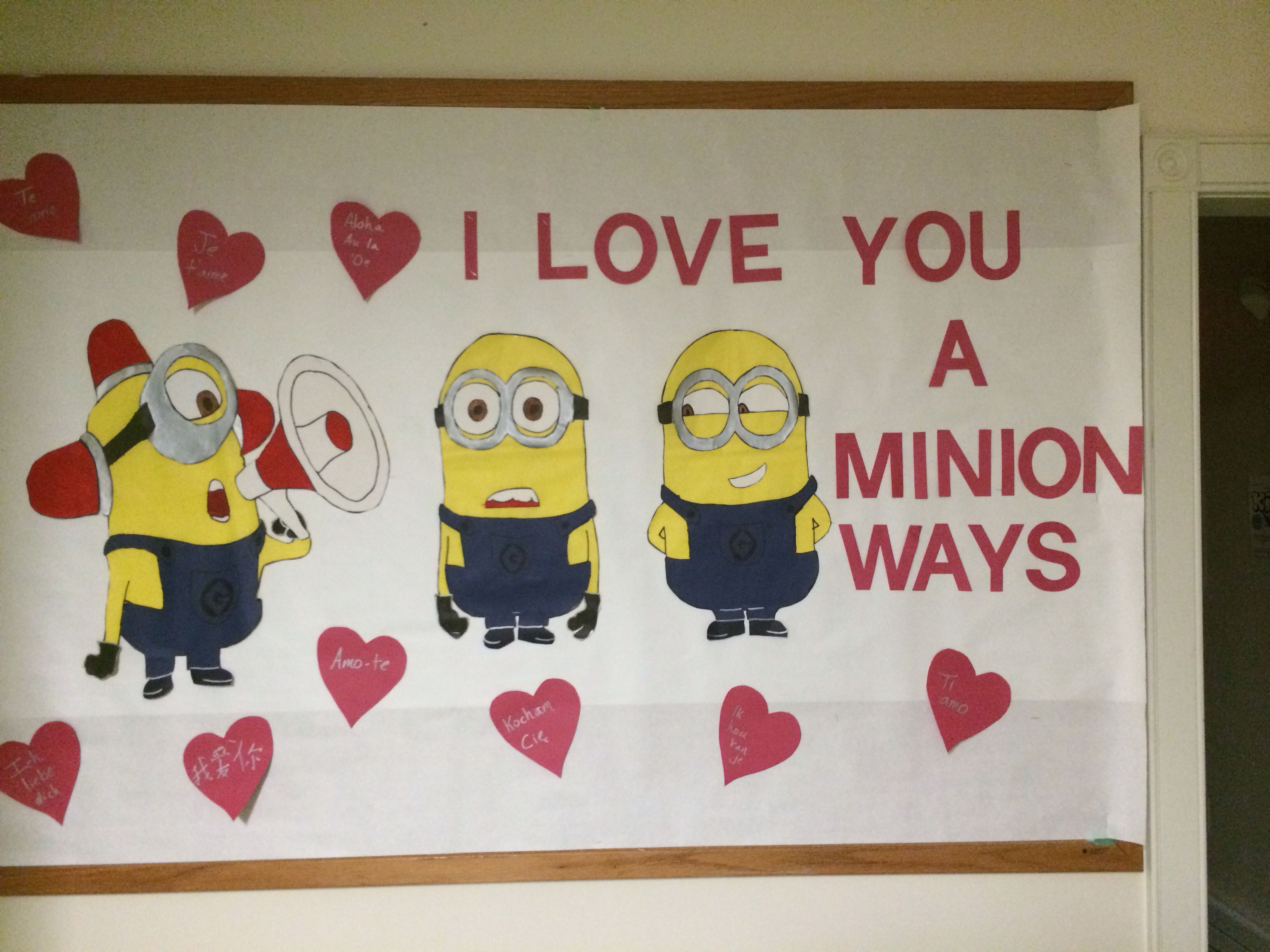 Minion Bulletin Board The Different Hearts Have I Love You In Different Languages