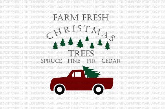 Farm Fresh Christmas Trees Svg.Pin On Holidays Vintage Christmas
