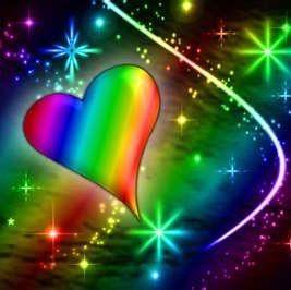 Image via We Heart It #heart #love #rainbowheart