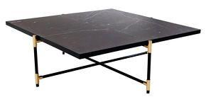 Table Basse En Marbre 90 Noir Handvärk Mobilier Et Cie