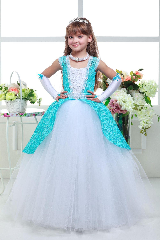 Mädchen eleganten Kleid ,Blaue Minze | elegantes Kleid, Reifrock und ...