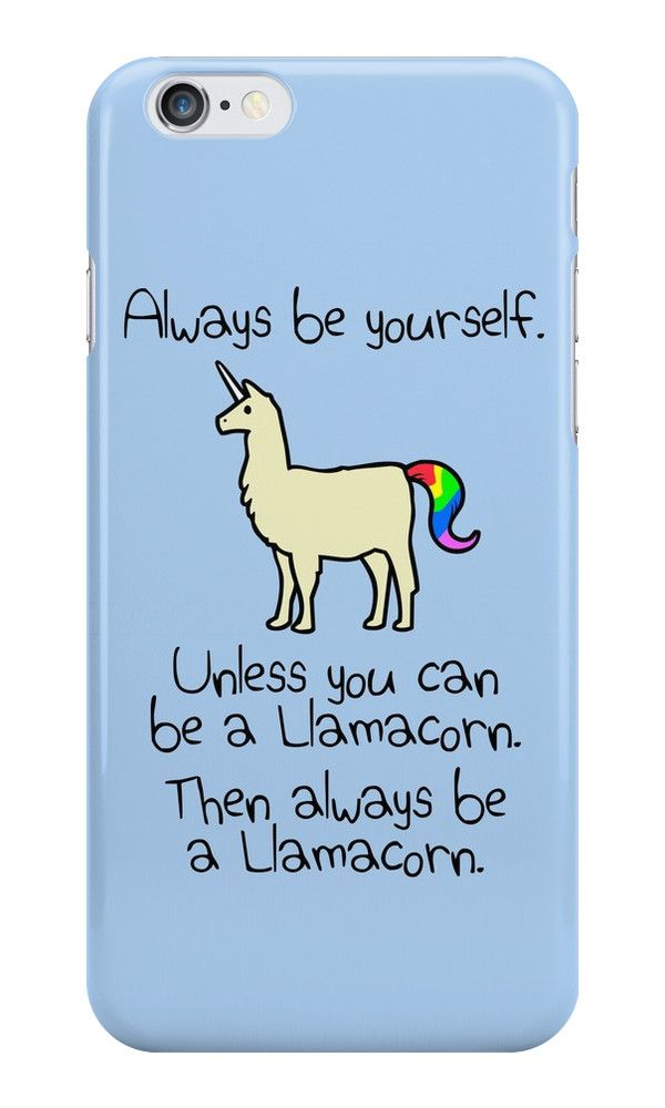 Always Be A Unicorn Quirky Funny iphone case