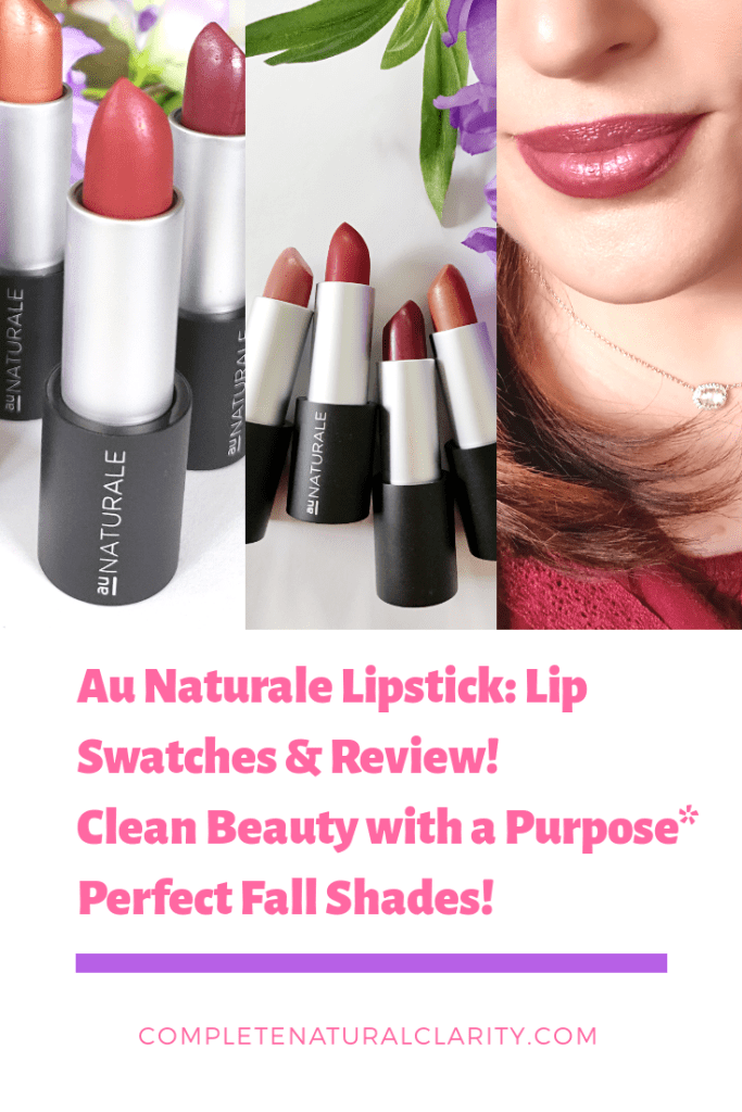 Au Naturale Lipstick Swatches & Review Lipstick swatches
