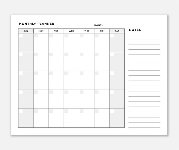 planner monthly monthly organizer printable monthly planner diy