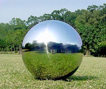 VCS BLU08 Mirror Ball 8-Inch Blue Stainless Steel Gazing Globe