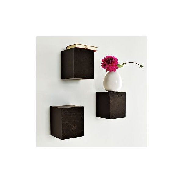 block wall shelves west elm found on polyvore can make these rh pinterest com butcher block wall shelves block wall shelves decor