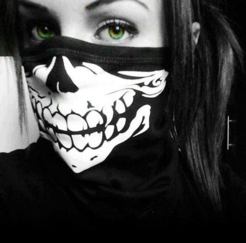 Green Eyes Halloween Mask Girl Thug Girl Bad Girl