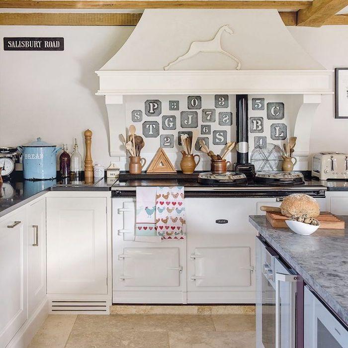 Idées Pour Aménager Une Cuisine Campagne Chic Charmante - Meuble comptoir cuisine pour idees de deco de cuisine