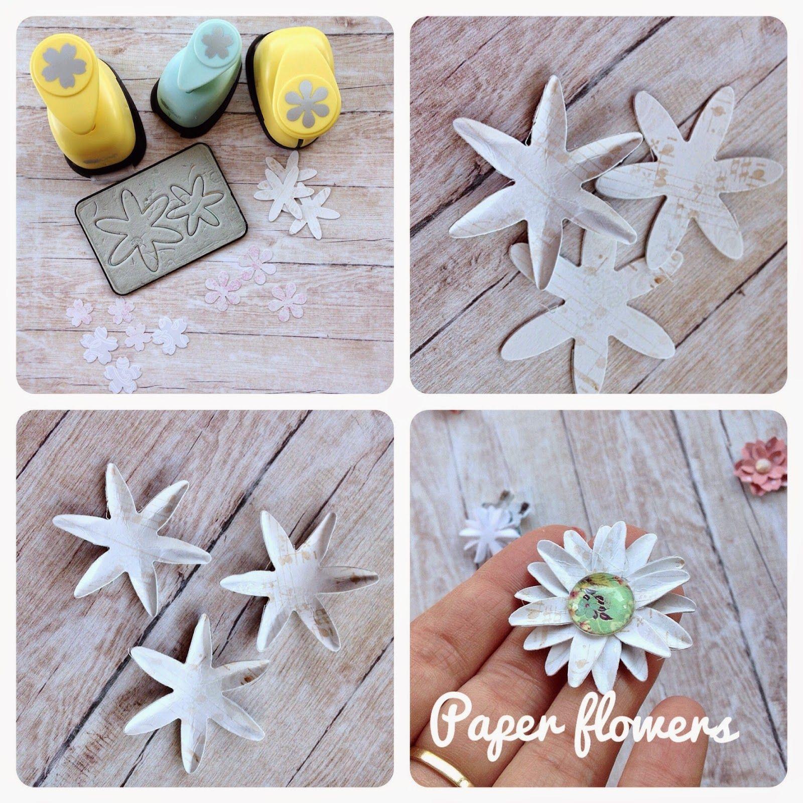 Scrapbooking Cardmaking Jak Zrobic Kwiatki Z Papieru Paper Flowers Flower Making Scrapbook