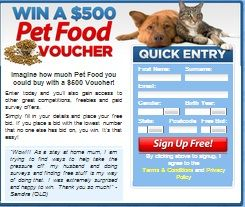 Win A $500 Pet Food Voucher