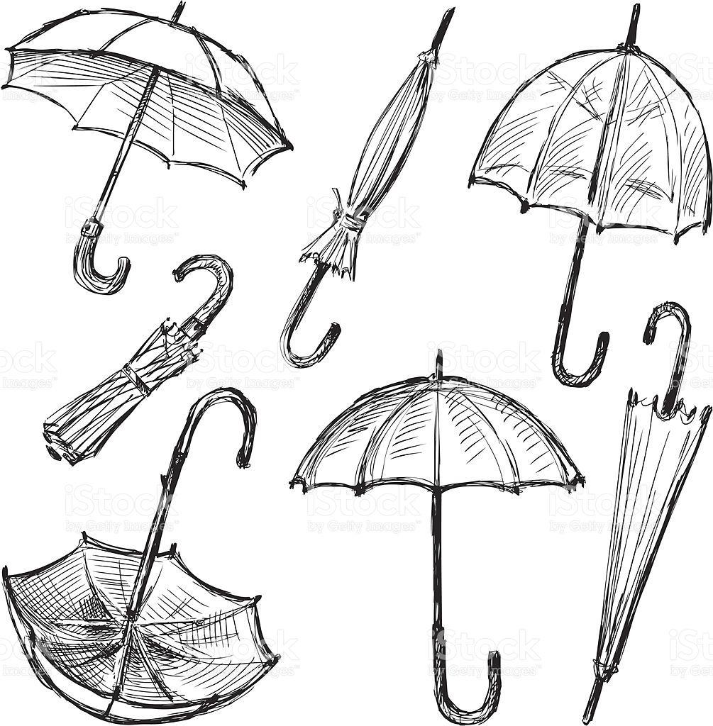 Umbrellas royalty free stock vector art