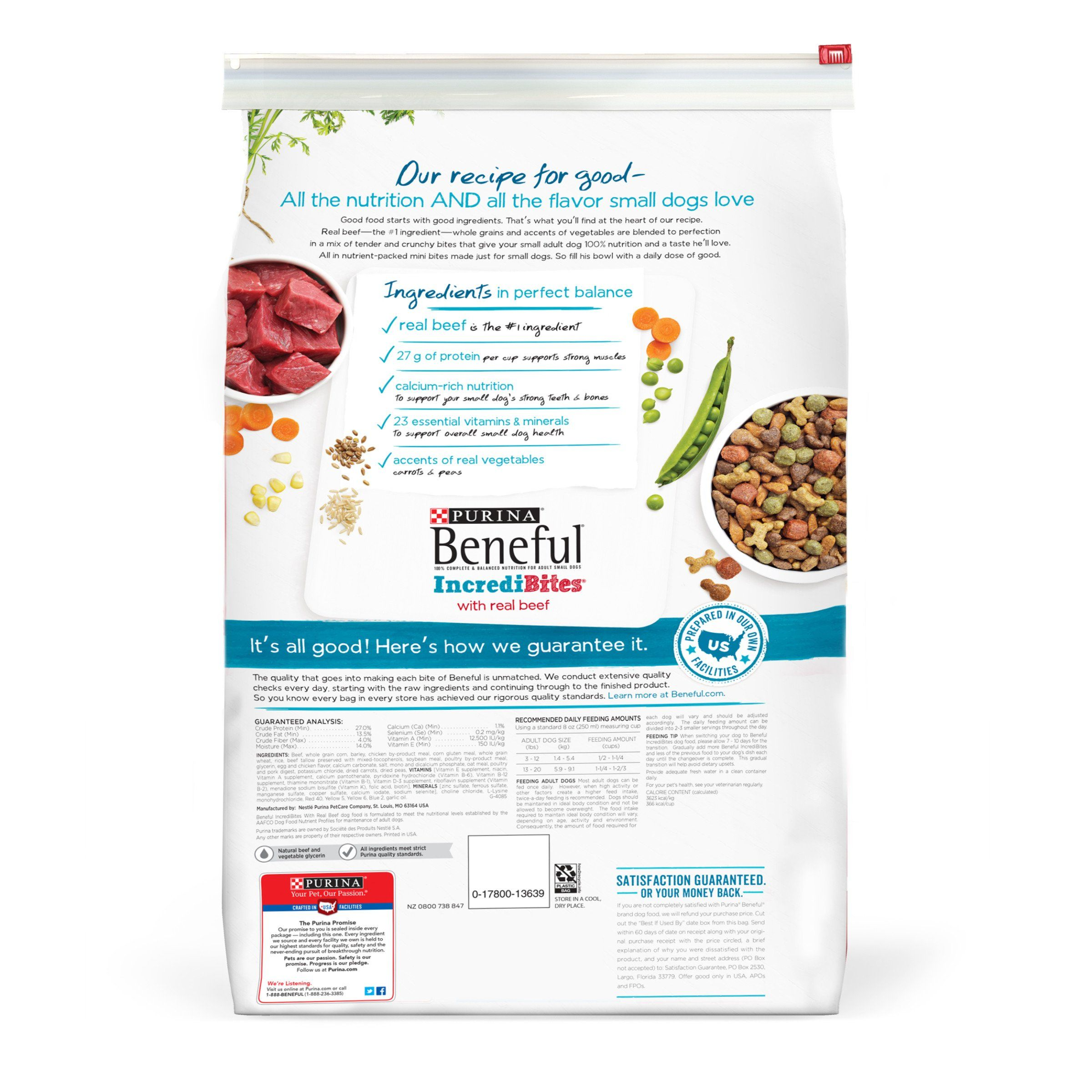 Purina Beneful Incredibites With Real Beef Adult Dry Dog Food 15 5