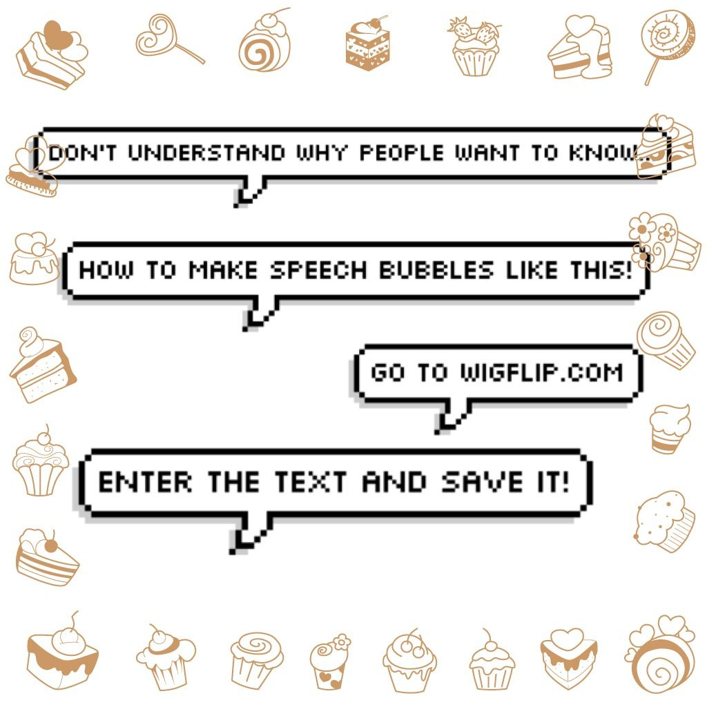Go To Wigflip.com To Create Pixelated Speech Bubbles Like