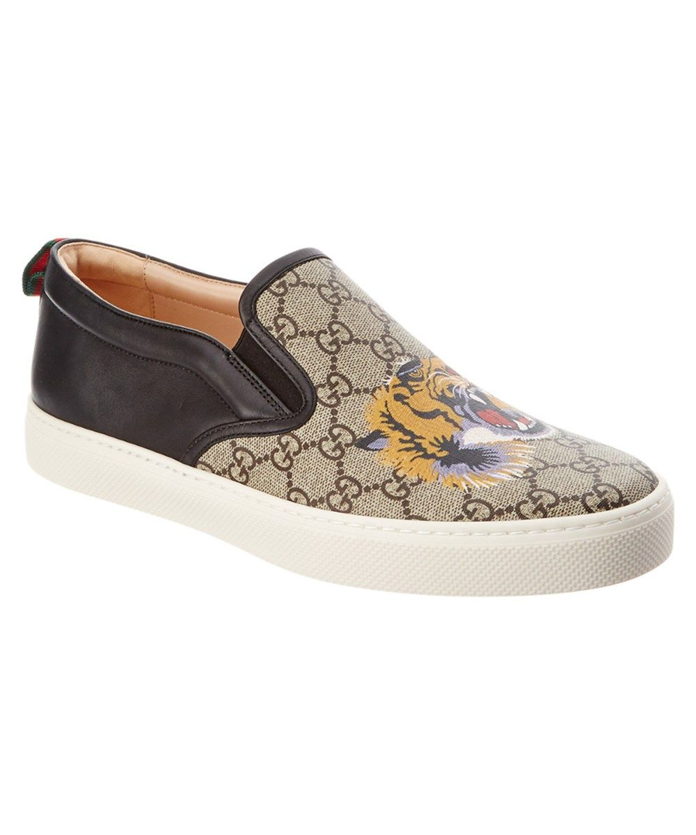 c5594c1a171 GUCCI Gucci Gg Supreme Canvas Tiger Slip On Sneaker .  gucci  shoes  loafers