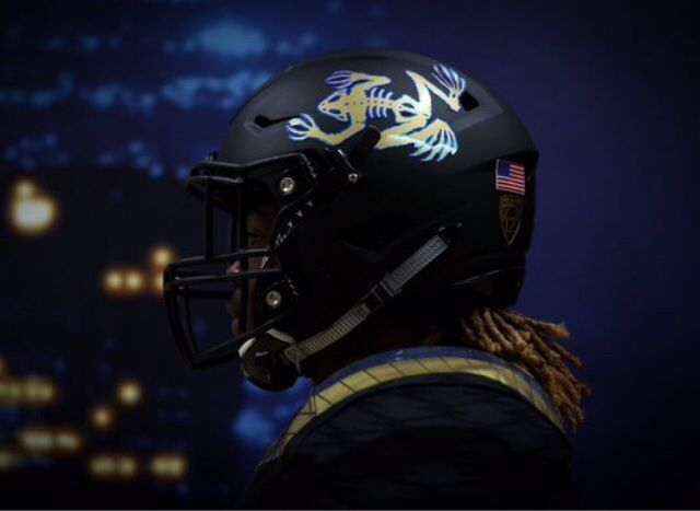 Matte Gold Football Helmet