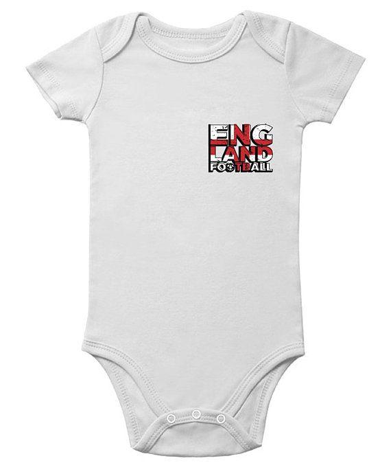 2a040f3261d England Football Short Sleeve Baby Bodysuit English Football Jersey One  Piece England Soccer Baby Bo