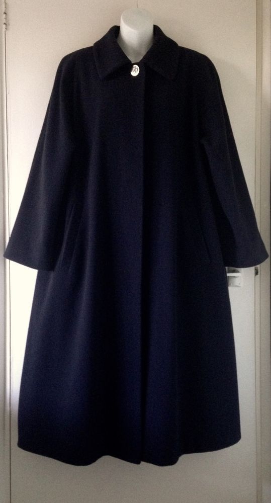 VTG 90s Do 50s ST MICHAEL Navy Long Maxi Winter Cashmere Swing ...