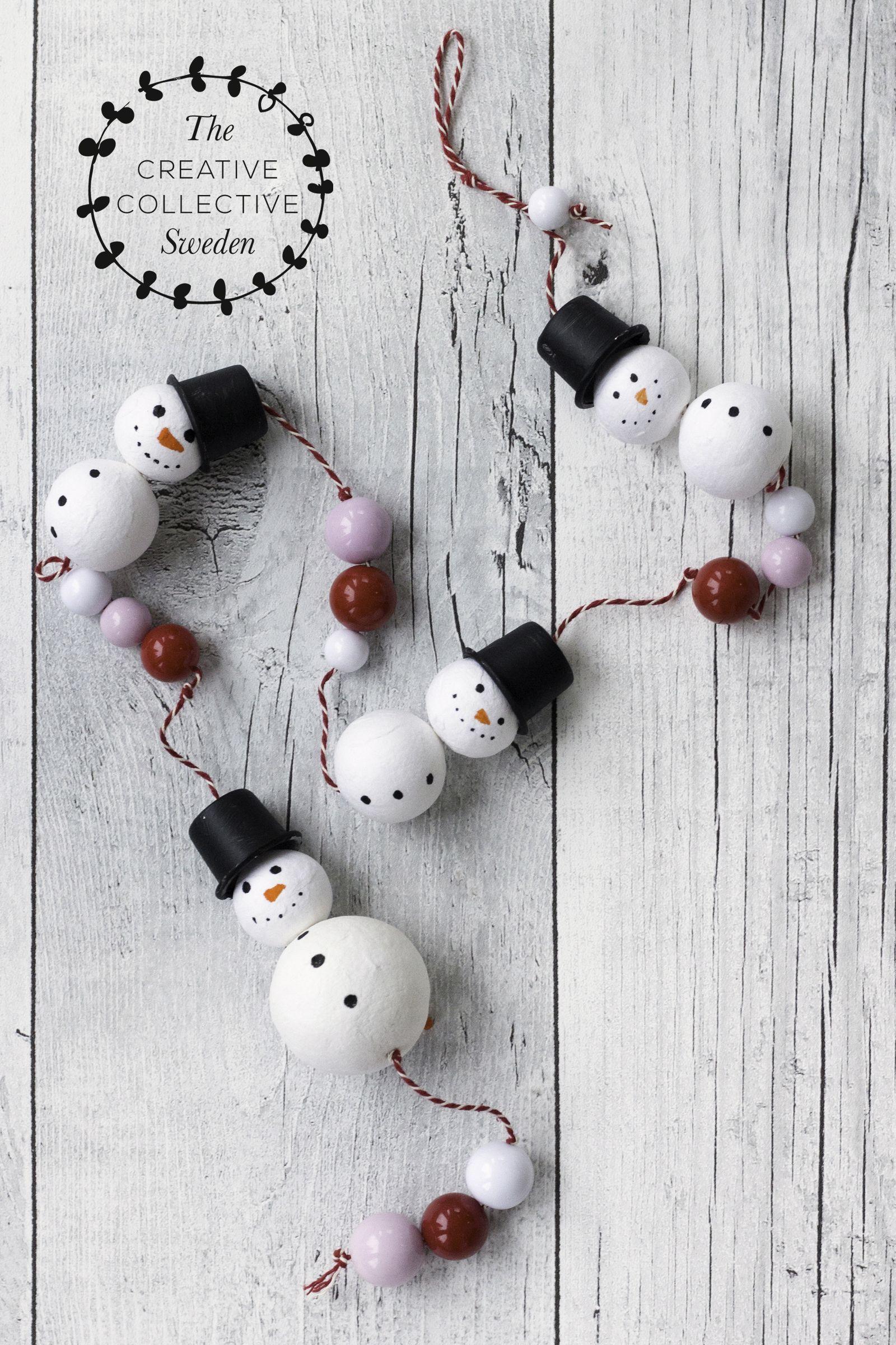 Basteln Mit Kindern Deko Fur Weihnachten Und Winter Mit Schneemann