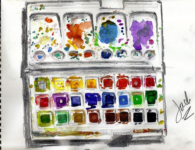 Paint Box Painted Boxes Sketchbook Challenge Watercolour Tutorials
