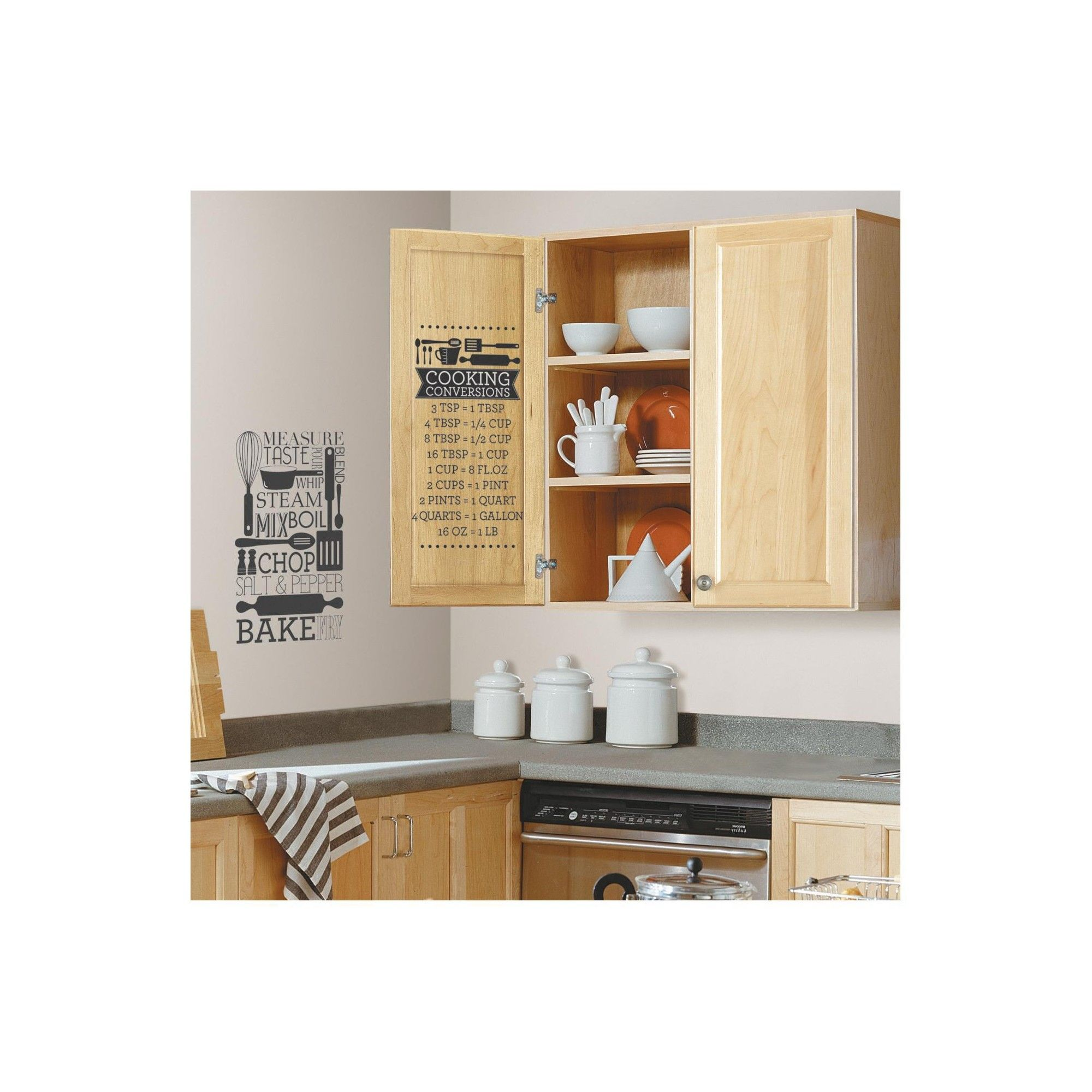 RoomMates Cooking Conversions Peel and Stick Wall Decals