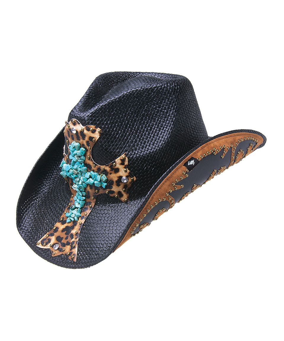 Love this Peter Grimm Hats Turquoise & Black Cross Zeke Cowboy Hat by Peter Grimm Hats on #zulily! #zulilyfinds