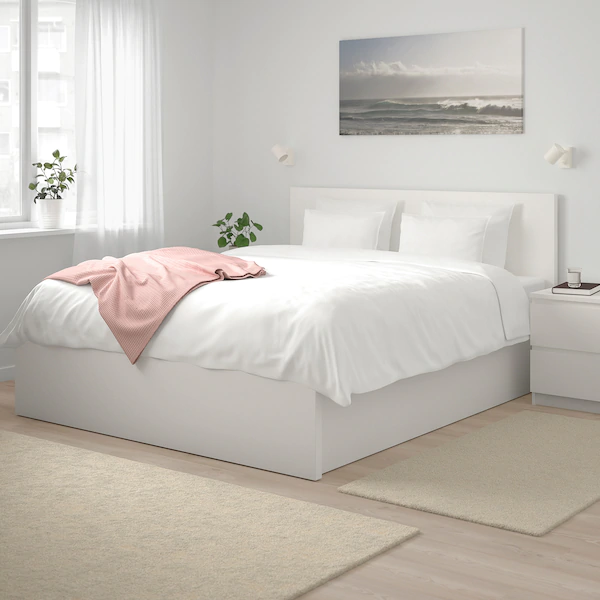 Malm Storage Bed White Full Double Ikea In 2020 White Bed Frame Malm Bed Frame Bed Frame With Storage