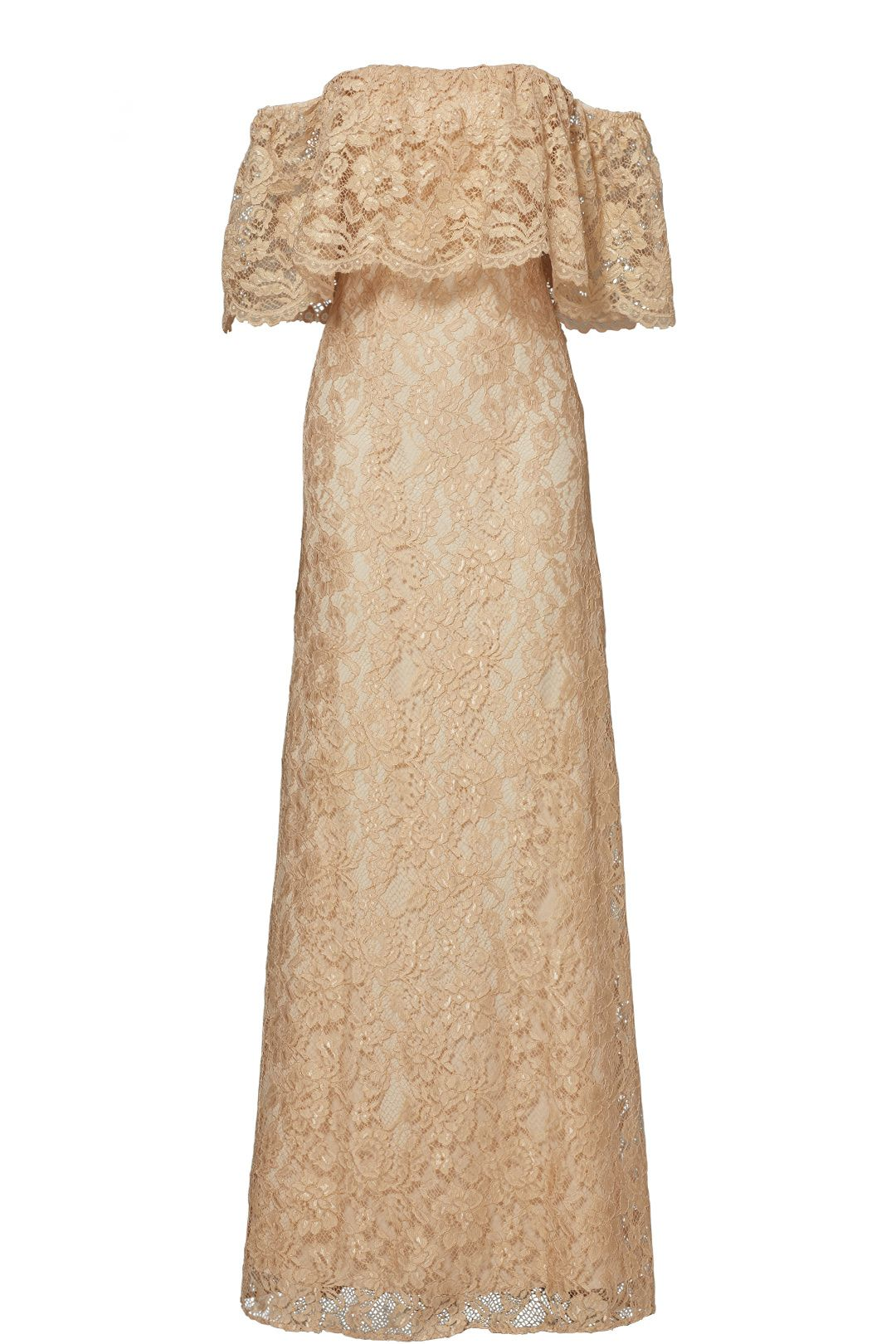 Rent gold lace catherine gown by erin erin fetherston for