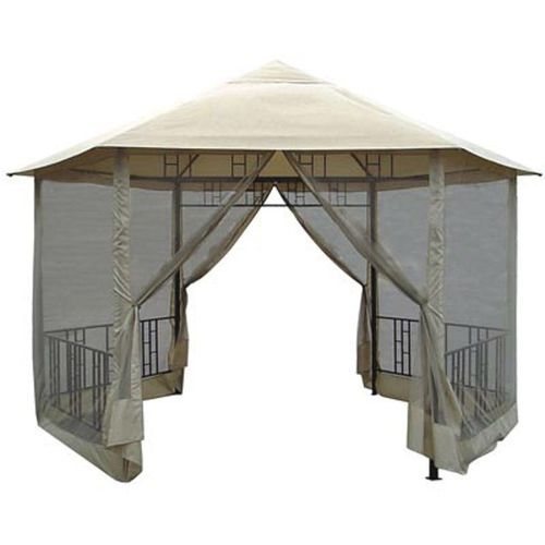 14Ft X Hexagon Gazebo With Canopy And Insect Screen