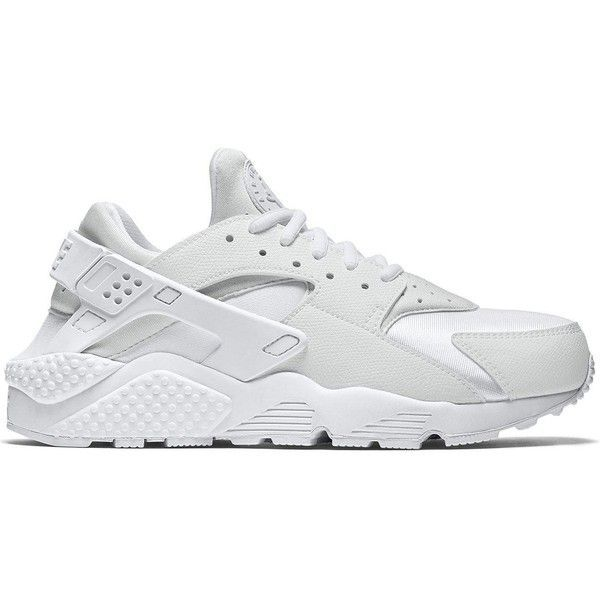 sale retailer 6dad6 ed3a5 Nike Air Huarache Run ( 110) ❤ liked on Polyvore featuring shoes, athletic  shoes, nike footwear, white shoes, nike shoes, nike and light weight shoes