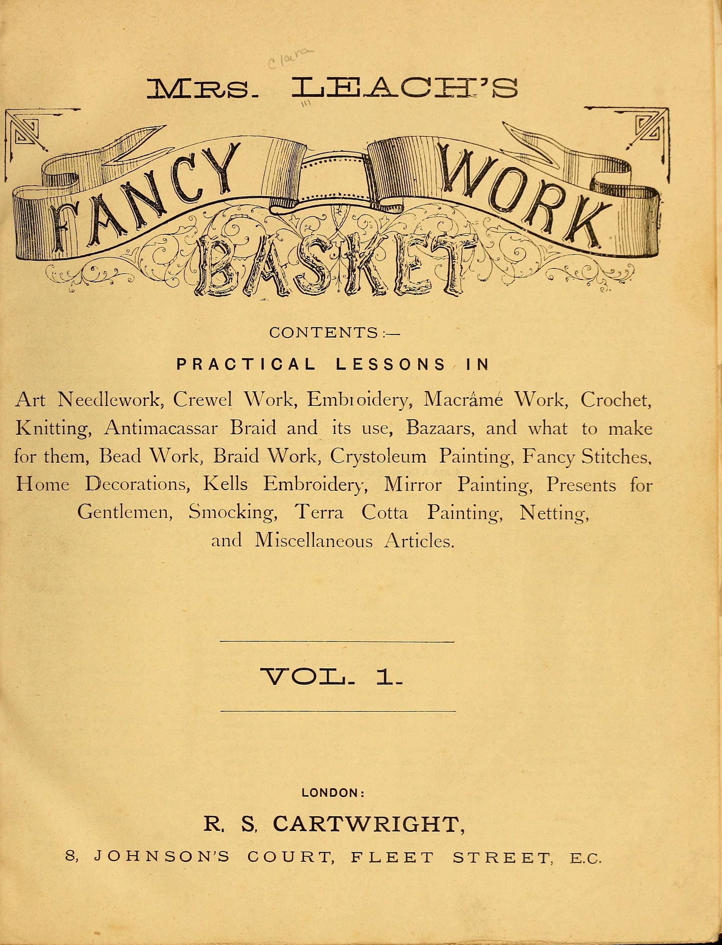 Mrs leachs fancy work basket crochet pinterest fancy mrs leachs fancy work basket bankloansurffo Choice Image