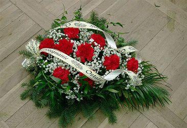 Wiazanka Pogrzebowa Bialo Czerwona Na Florecie Funeral Floral Funeral Flowers Floral
