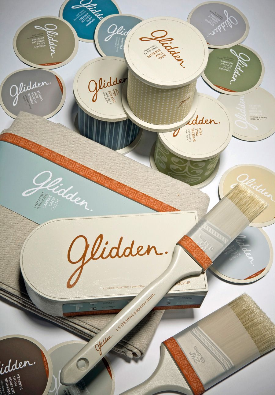 Conceptual Logo, Branding, And Packaging For Interior Paint Company Glidden  By Vanessa Lam