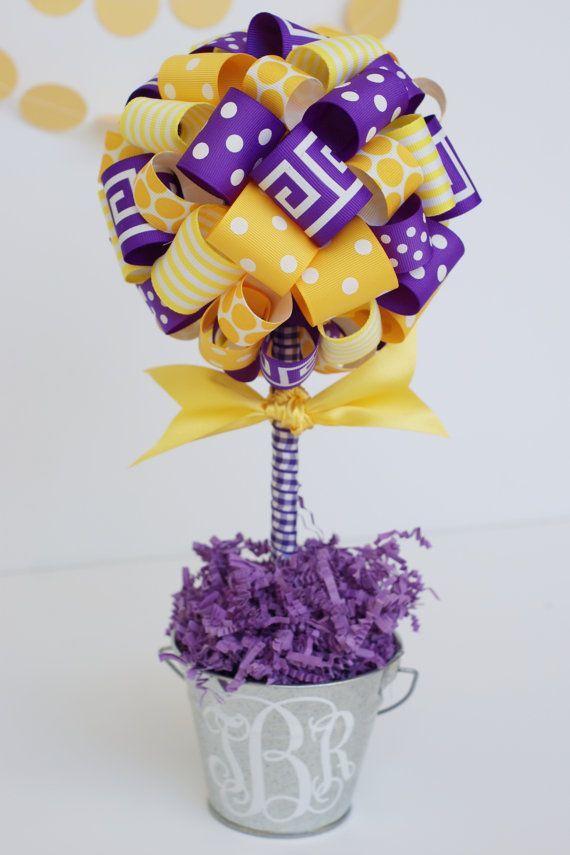 Lsu Tigers Ribbon Topiary Tree In Purple By Sweetgeorgiasweet