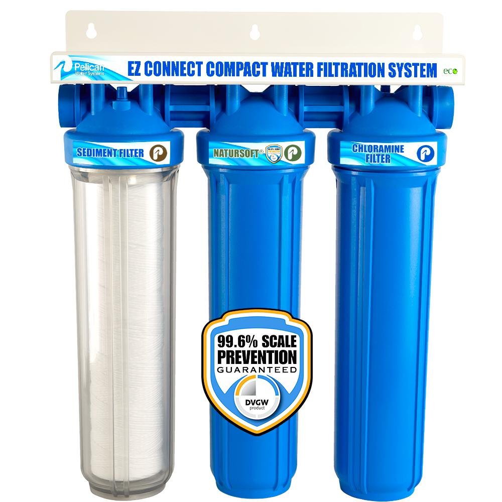 Pelican Water Ez Connect Compact Whole House Water Filtration System And Water Softener Alternative Combo Thd Pse500 The Home Depot In 2020 Water Softener Water Filtration System Water Filters System