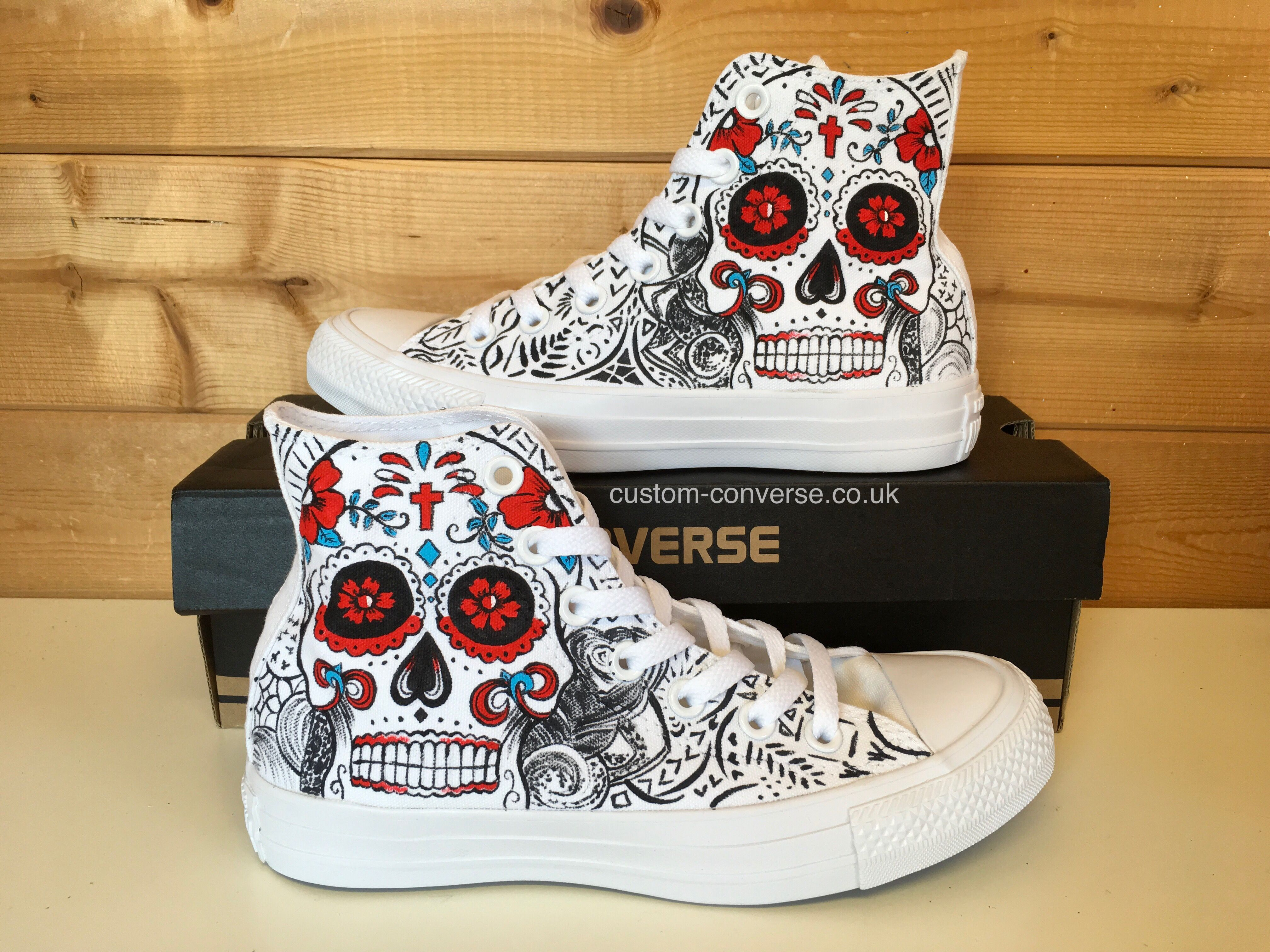 7eee099f70c Candy Skull High Tops  converse  customconverse  candyskull  chucks   allstars  kicks